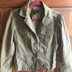 American Eagle Outfitters Green Utility Jacket